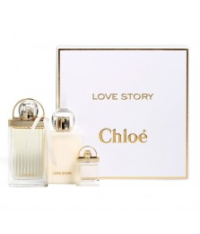 Giftset-Chloe Love Story For Women Edp 75ml   Lotion 100ml   Miniature 7.5ml
