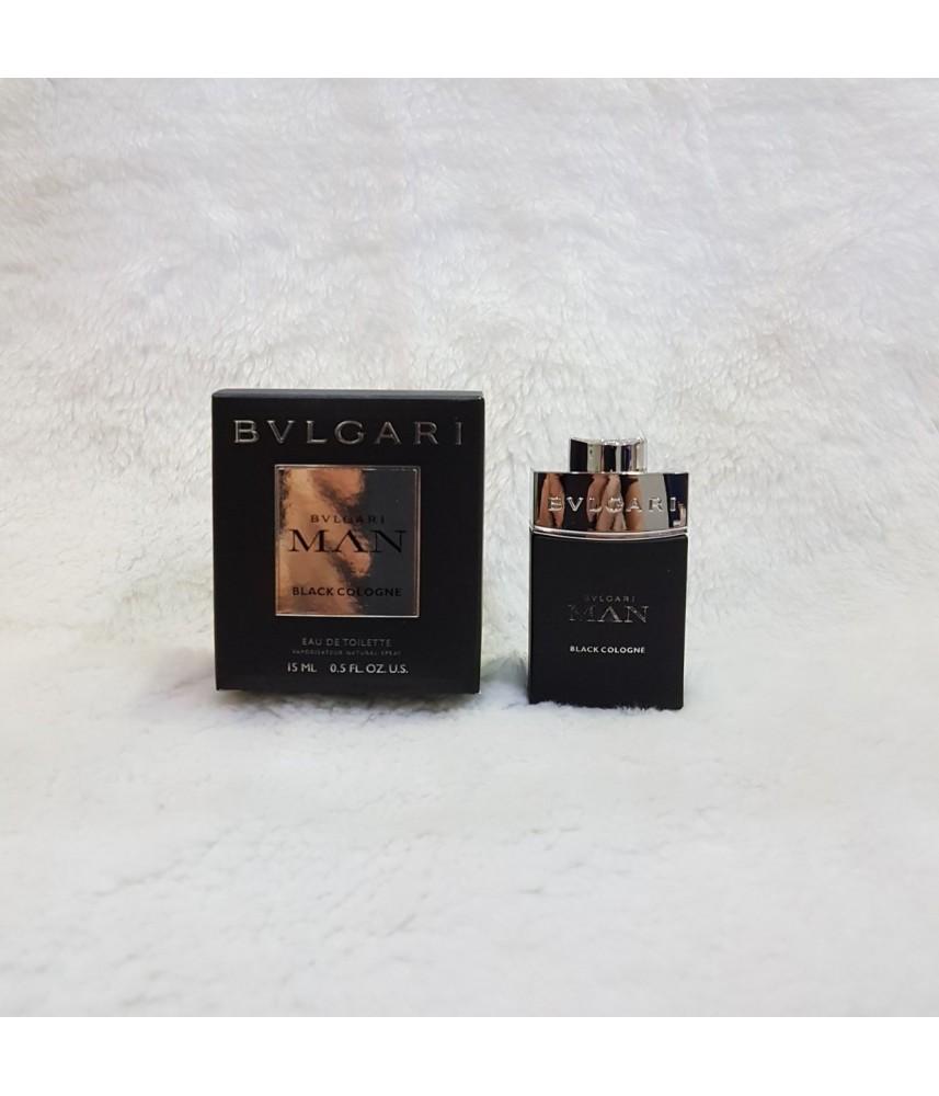 Travel-Size Bvlgari Man Black Cologne For Men Edt 15ml