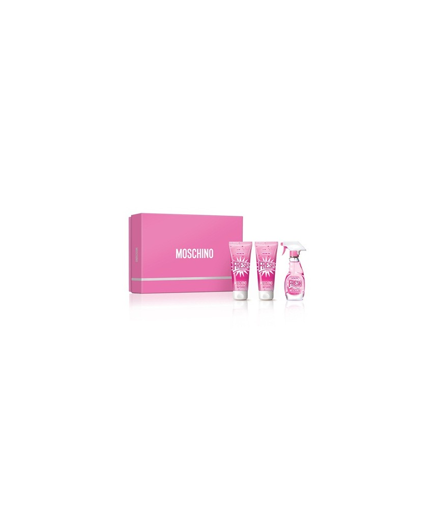 Giftset-Moschino Fresh Couture Pink For Women Edt 50ml + Bodylotion 100ml + Shower Gel 100ml