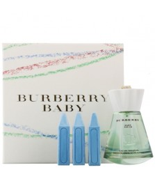 Giftset-Burberry Baby Touch For Women Edt 100ml + Bath Crayons 18gr x 3pcs