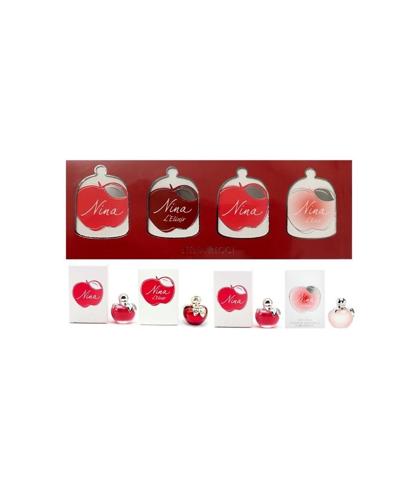 Miniature-Set Nina Ricci Edition For Women 4pcs x 4ml (7777)