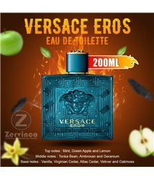 Versace Eros For Men Edt 200ml (BIG SIZE)