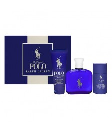 Giftset-Ralph Laurent Polo Blue For Men Edt 125ml + Shower Gel 100ml + Deodorant Stick 75gr