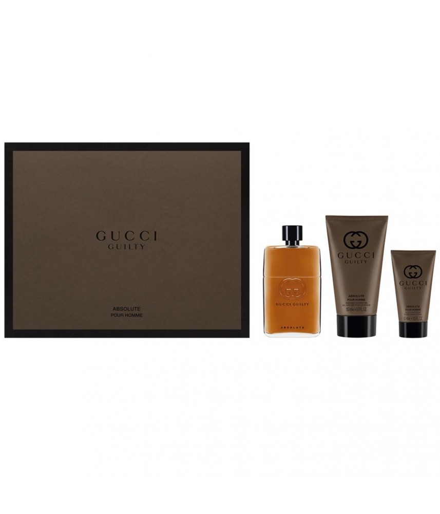 Giftset-Gucci Guilty Absolute For Men Ep 90ml + After Shave 100gr + Shower Gel 100gr