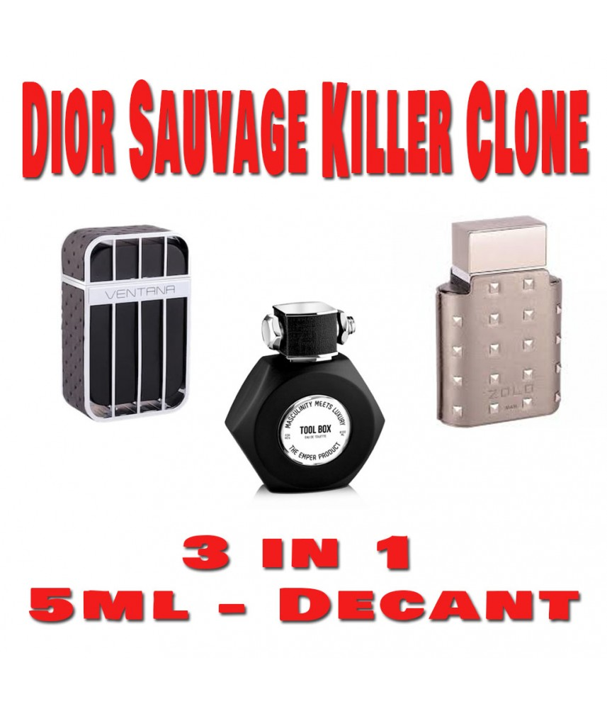 Decant-Dior Sauvage Killer - 3 in 1 (3pcs x 5ml)