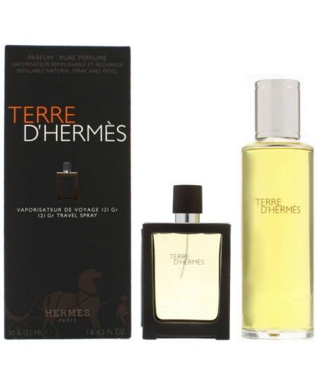 Hermes Terre d'Hermes Refillable For Men Edt 30ml + 125ml Refill