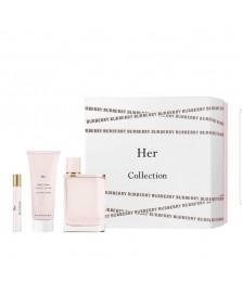 Giftset-Burberry Her For Women Edp 100ml + Tarvel-Size 10ml + Lotion 100ml