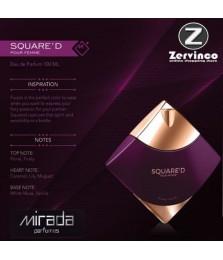 Mirada Square'D Pour Femme For Women Edp 100ml